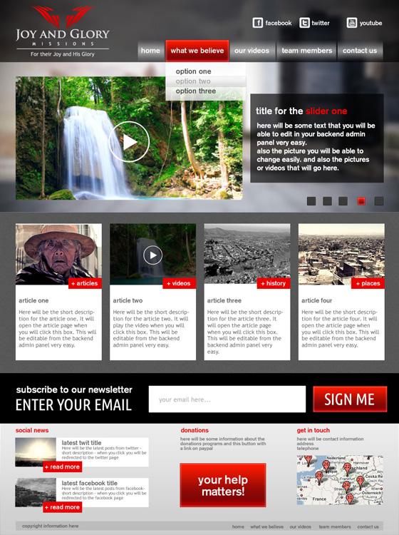 Joy and Glory Web Design